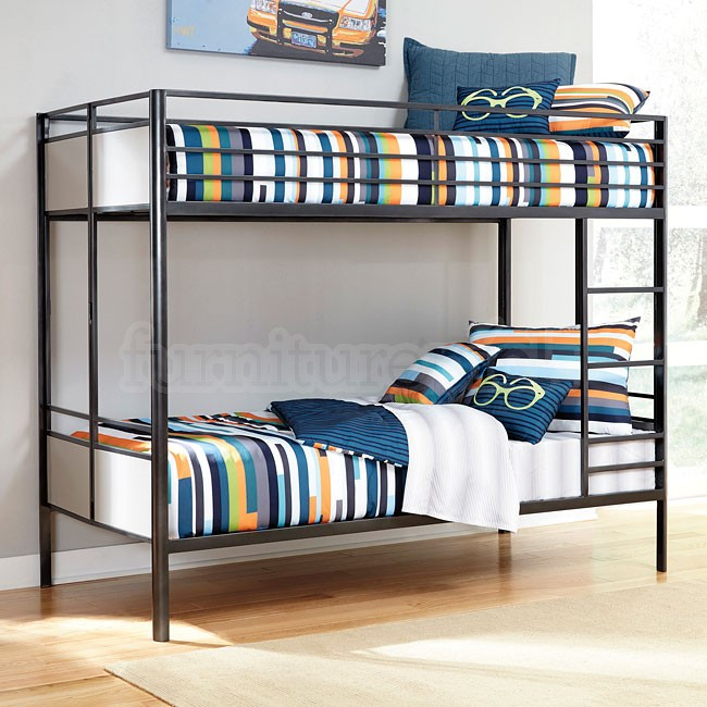 Image of: Metal bunk beds double