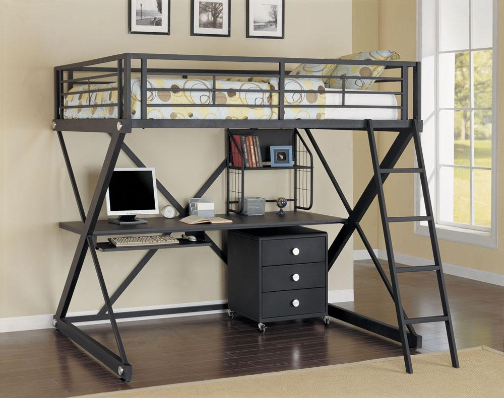 Image of: Metal bunk beds frames