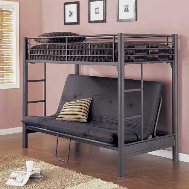 Image of: Metal frame sofa bunk bed