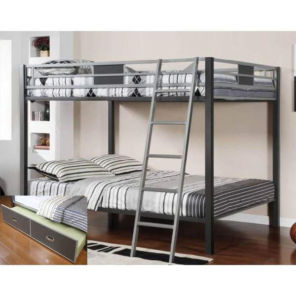 Image of: Metal trundle bunk beds