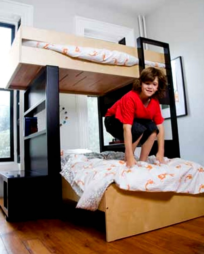 Image of: Modern Boys Bunk Bed Home Furniture Design