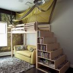 Modern Bunk Bed with Stairs