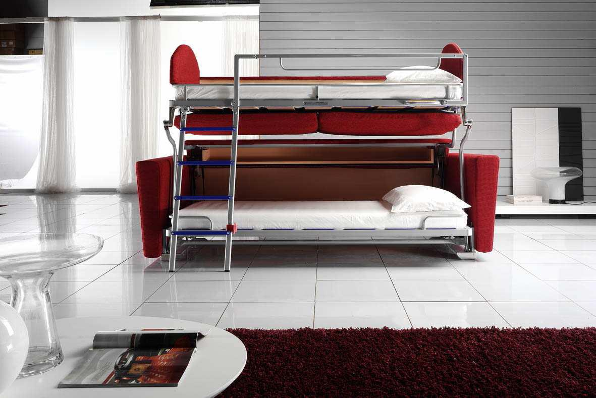 Image of: Modern sofa bunk bed