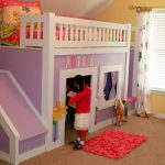 Pincess Bunk Bed with Stairs and Slide