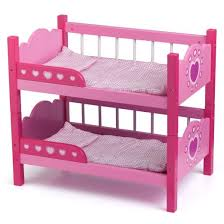 Image of: Pink Doll Bunk Beds