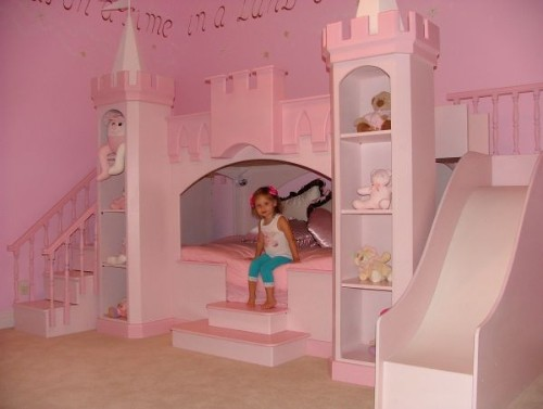 Pink Pincess Bunk Bed