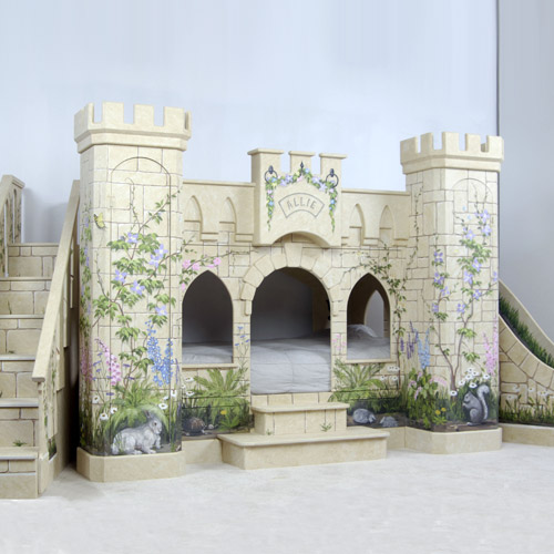 Image of: Princess Castle Bunk Bed