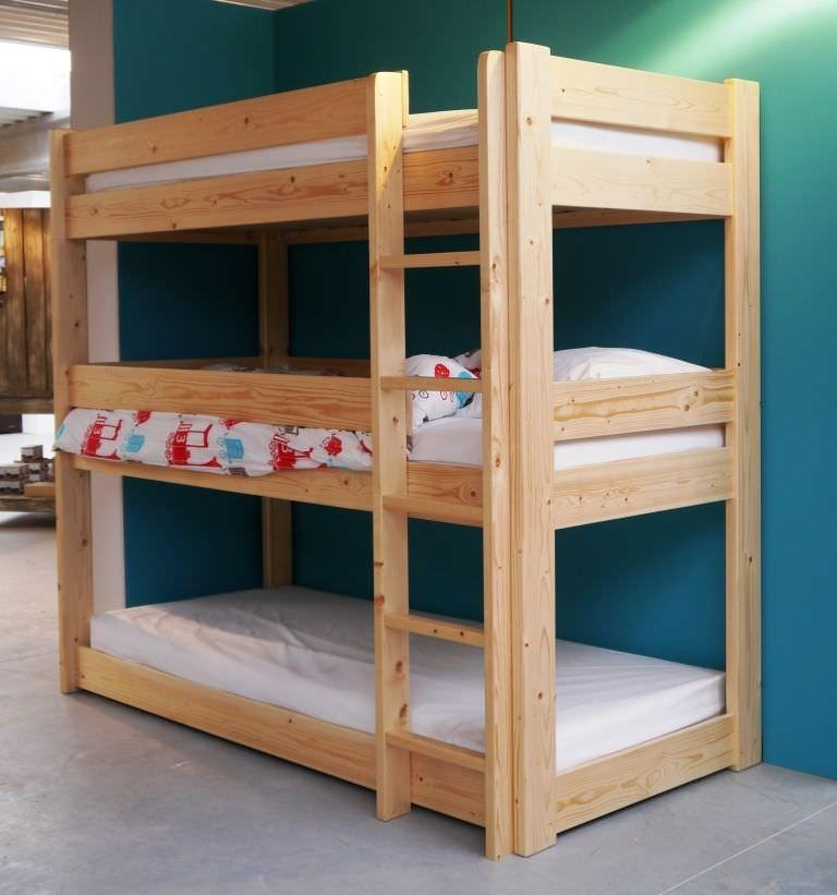 Image of: Quality triple bunk bed