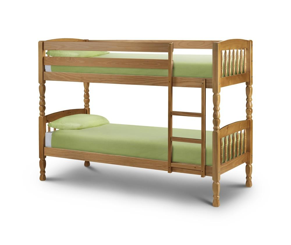 Image of: Rustic single bunk bed