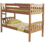 Rustic wood bunk beds