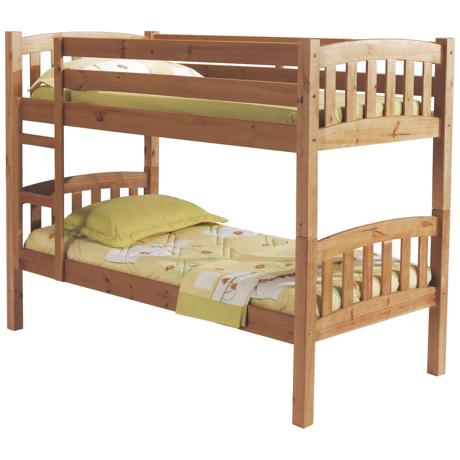Image of: Rustic wood bunk beds