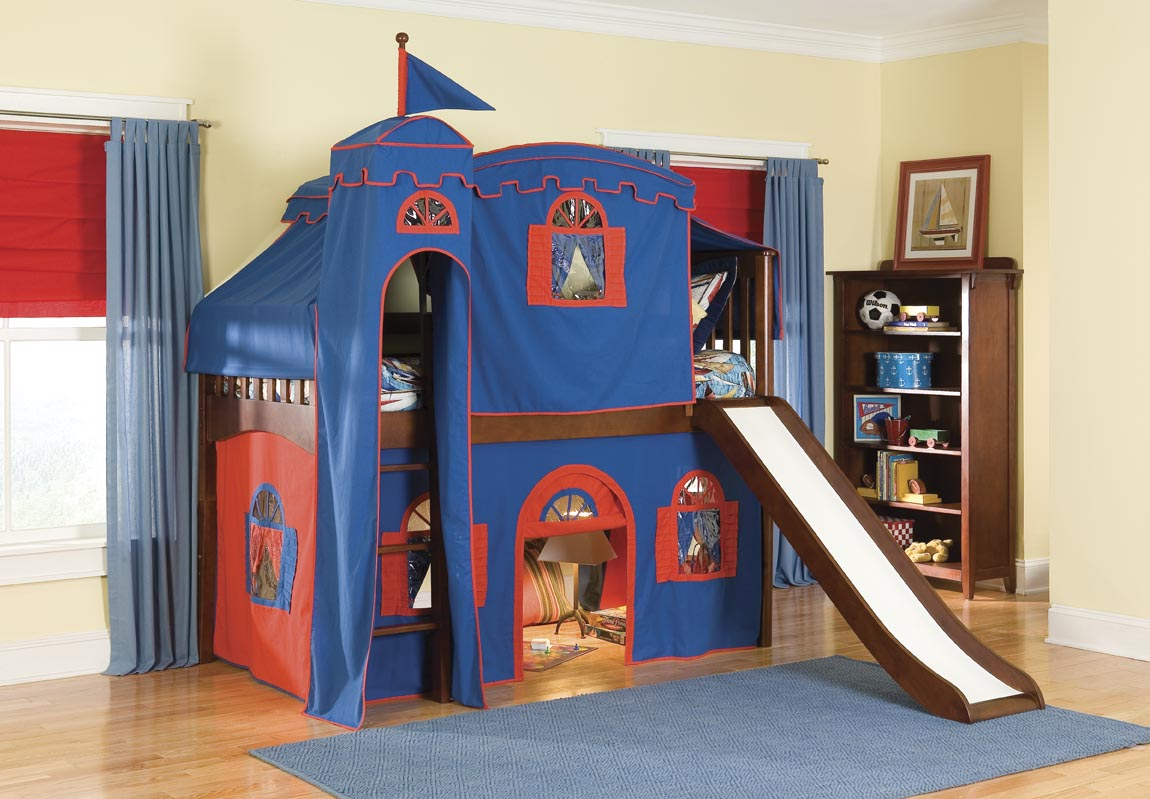 Image of: Simple Bunk Bed with Slide