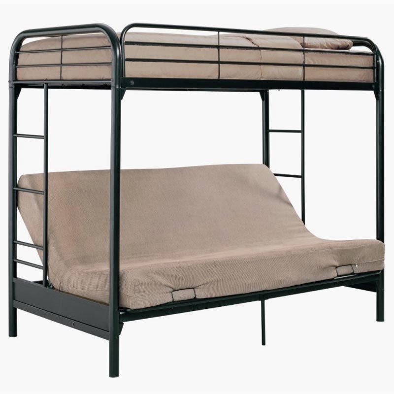 Image of: Simple Futon Bunk Beds