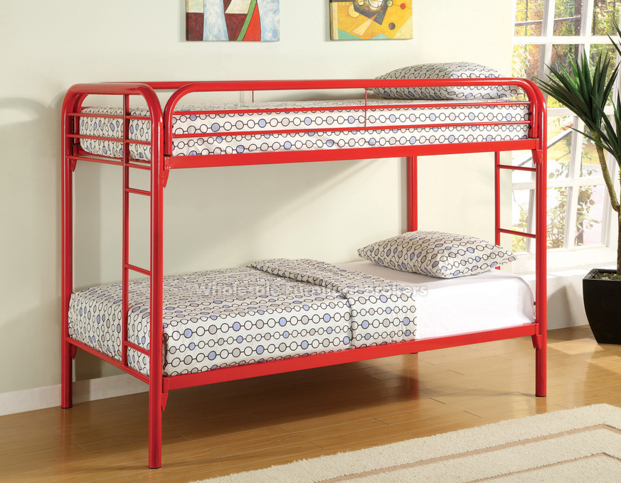 Image of: Simple twin metal bed frame