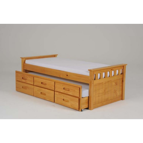 Image of: Single Wooden Bed Frame With Storage