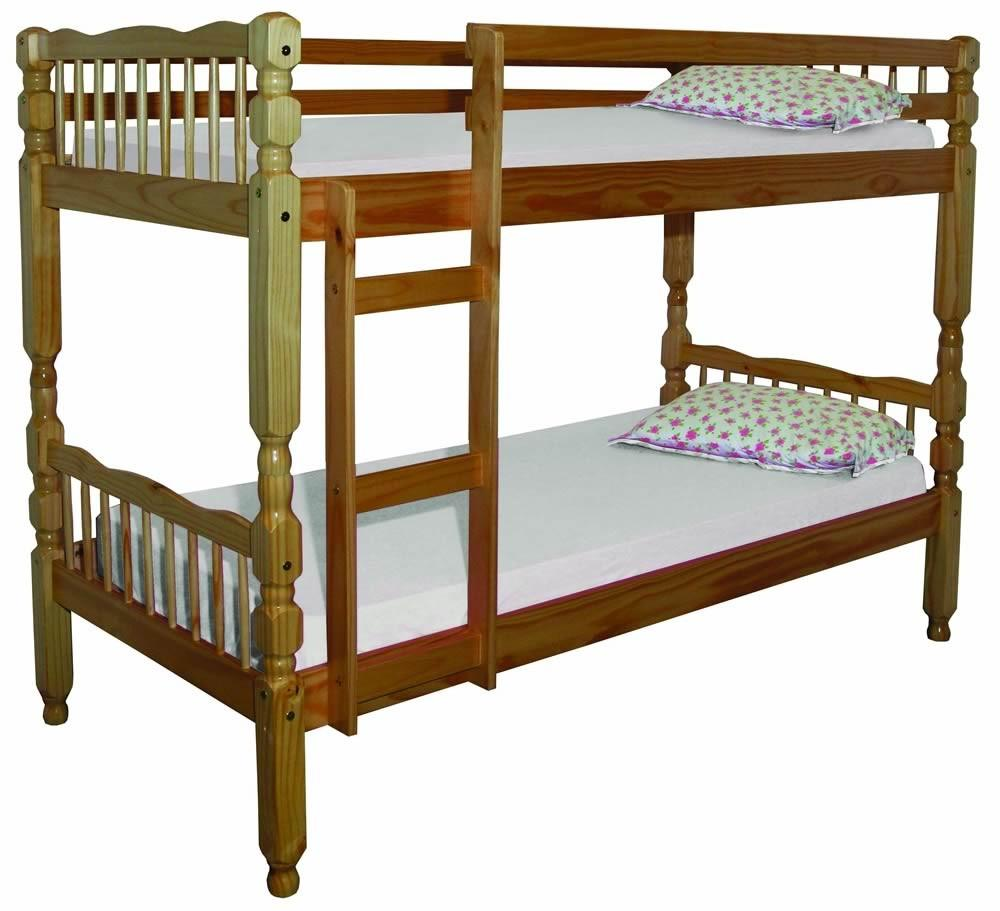 Image of: Single bunk bed size