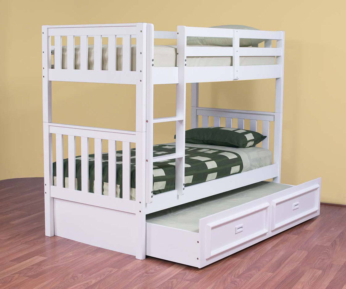 Image of: Single bunk bed with storage
