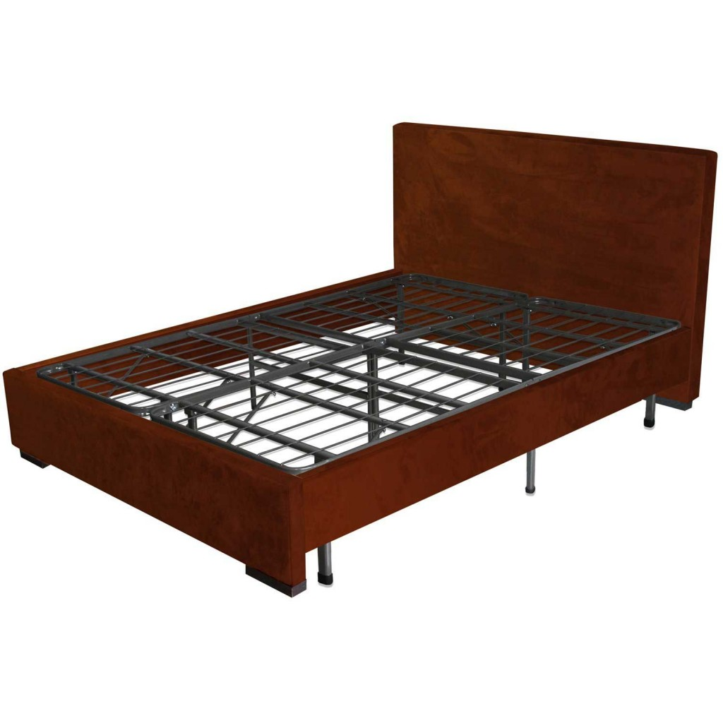 Image of: Sleep master Queen metal platform bed frame