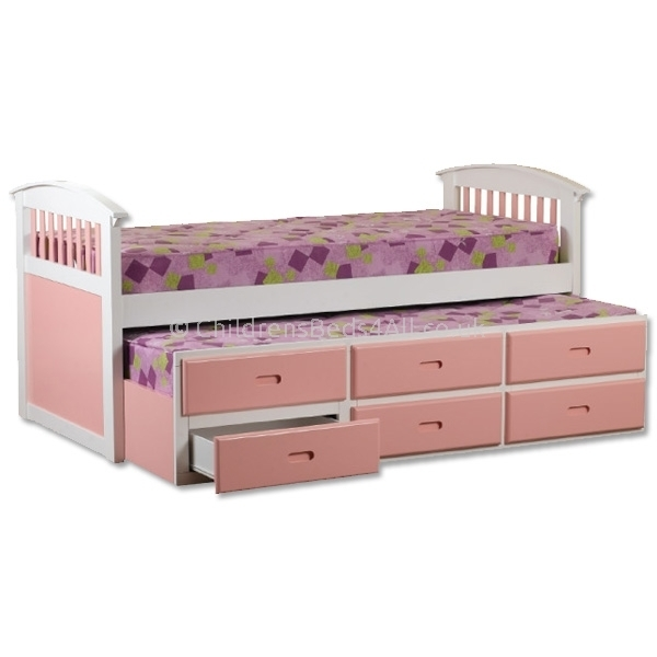 Image of: Storage bed frame with drawers