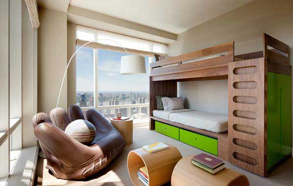 Image of: Stylish bunk beds for small rooms
