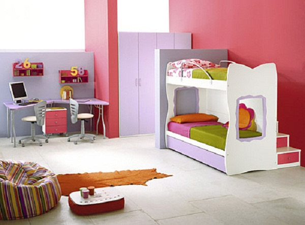 Image of: Teenager bunk beds for small rooms ideas
