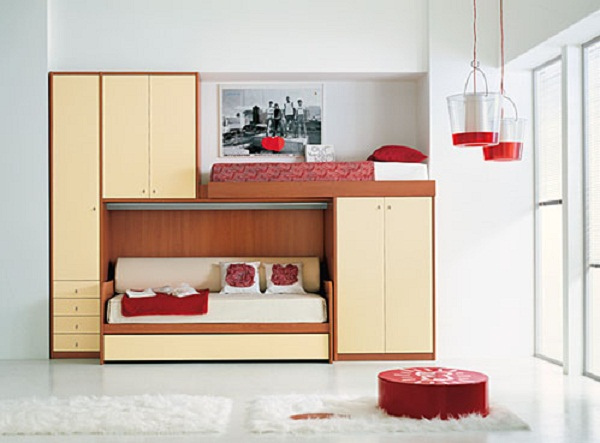 Image of: Teenager bunk beds for small rooms