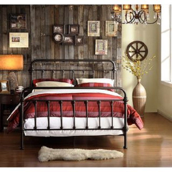 Image of: Traditional Full Size Metal Bed Frame
