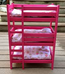 Image of: Triple Doll Bunk Beds