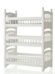 Image of: Triple White Doll Bunk Beds
