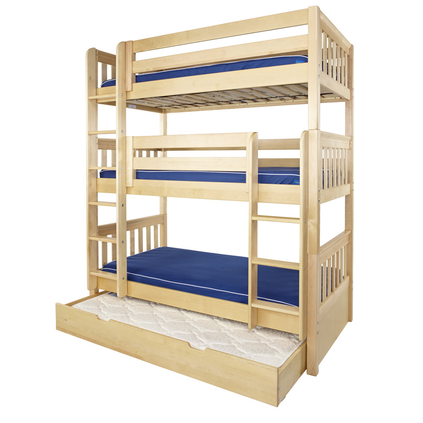 Image of: Triple bunk bed three high