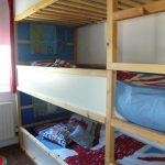 Triple bunk bed with stairs