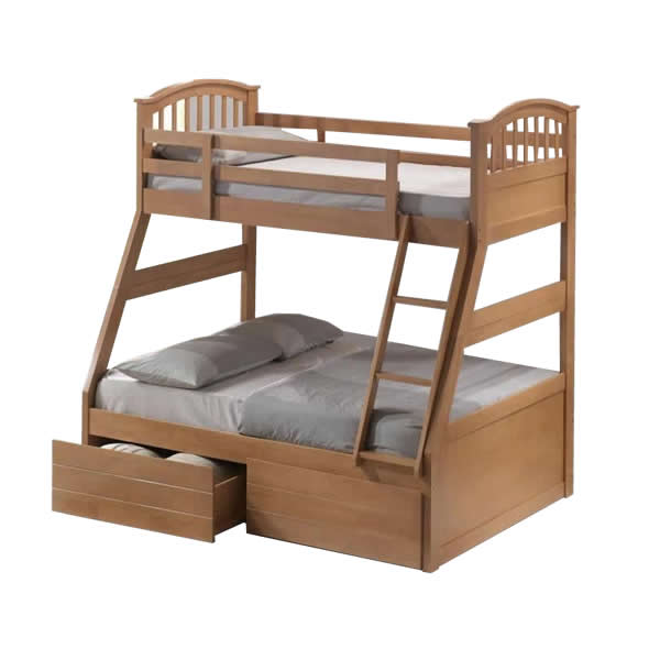 Image of: Triple bunk bed with storage
