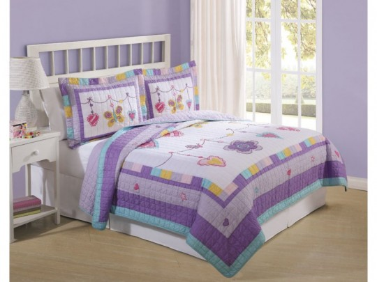 Image of: Twin Bedding Sets for Girls Purple