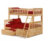 Twin bunk bed drawers