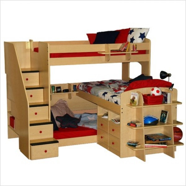 Image of: Twin bunk bed for child