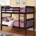 Twin bunk bed in black