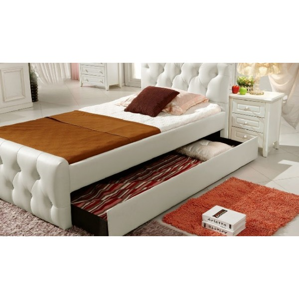 Image of: Upholstered Trundle Bed Frame
