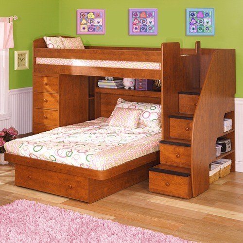 Image of: Wood Bed Frames with Green Wall