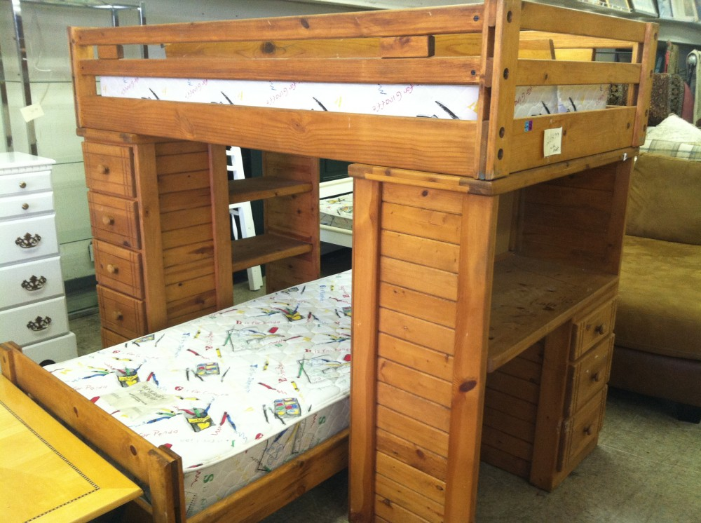 Image of: Wood bunk beds design