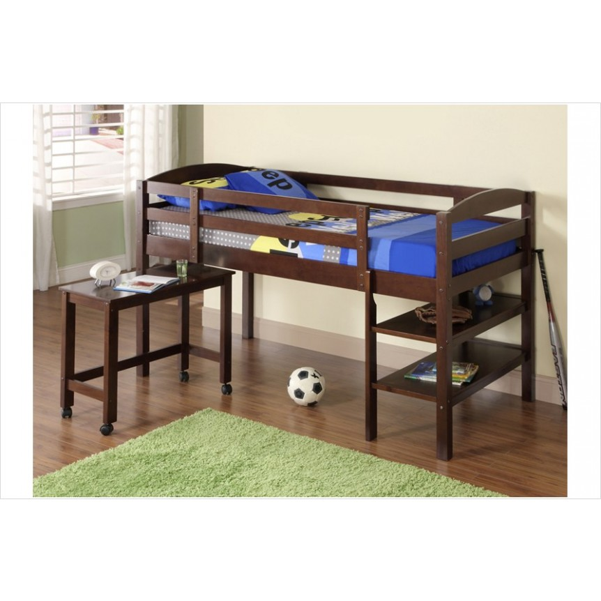 Image of: Wood bunk beds for boys
