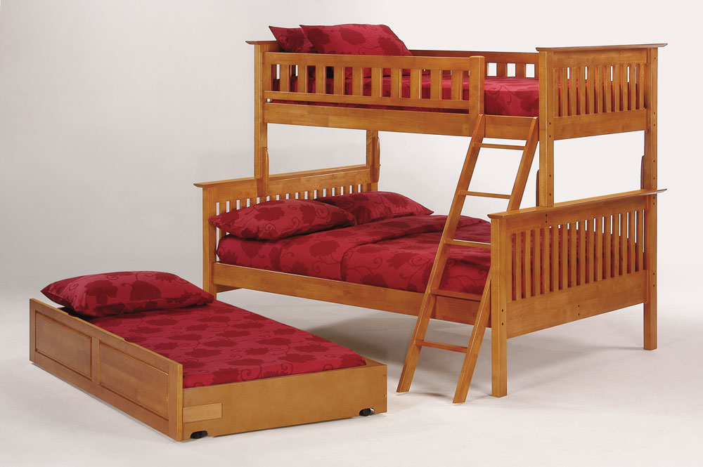 Image of: Wood bunk beds twins