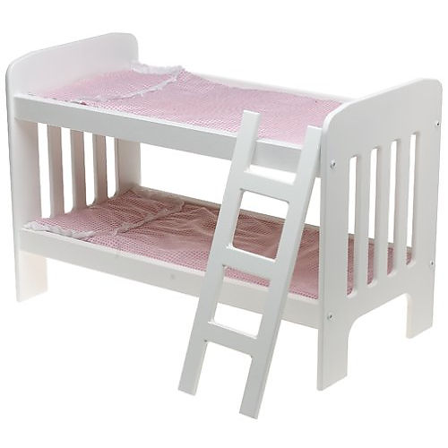 Image of: Wooden White Doll Bunk Beds