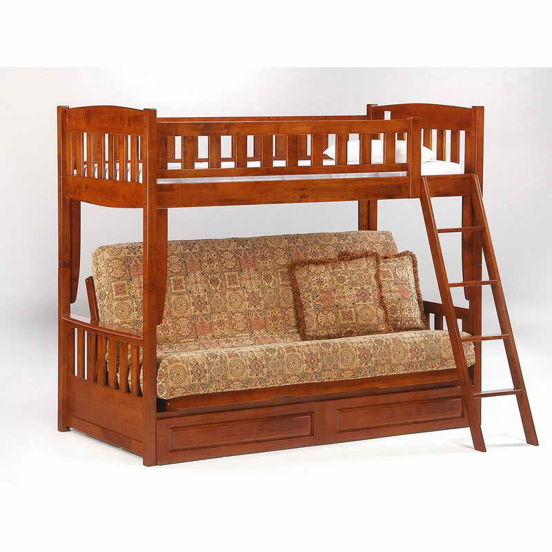 Image of: Wooden frame sofa bunk bed