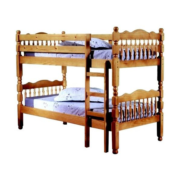 Image of: Wooden Single Bunk Beds