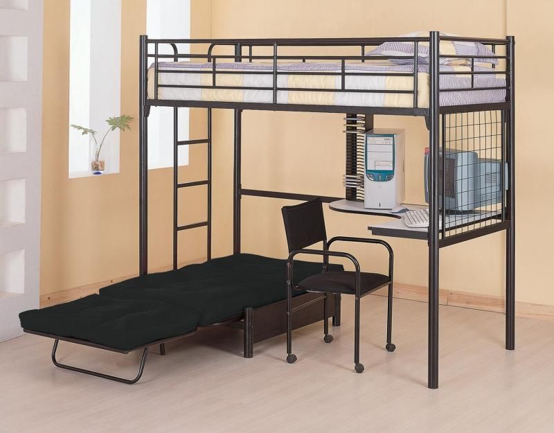 Image of: black twin metal bed frame
