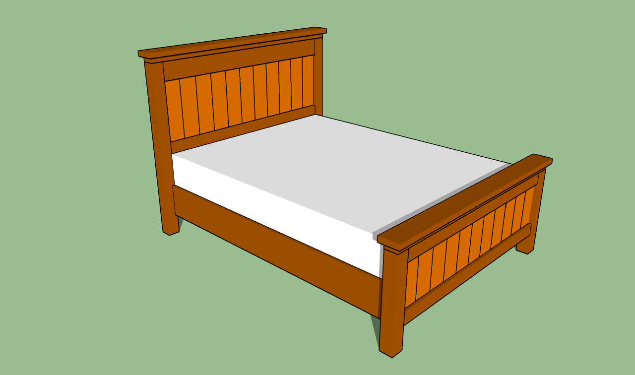 Image of: build a queen size bed frame diy