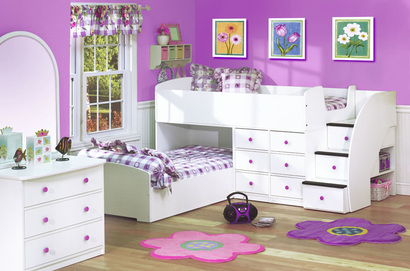 Image of: bunk beds for girls designs