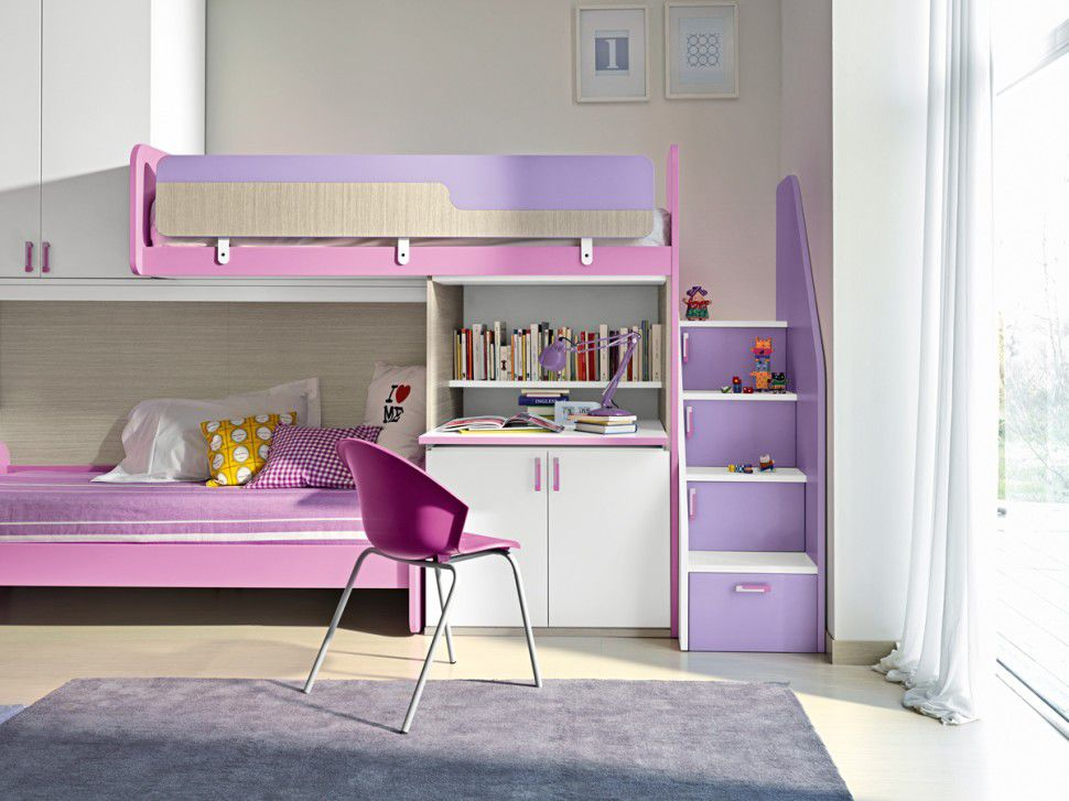 Image of: bunk beds for girls with storage