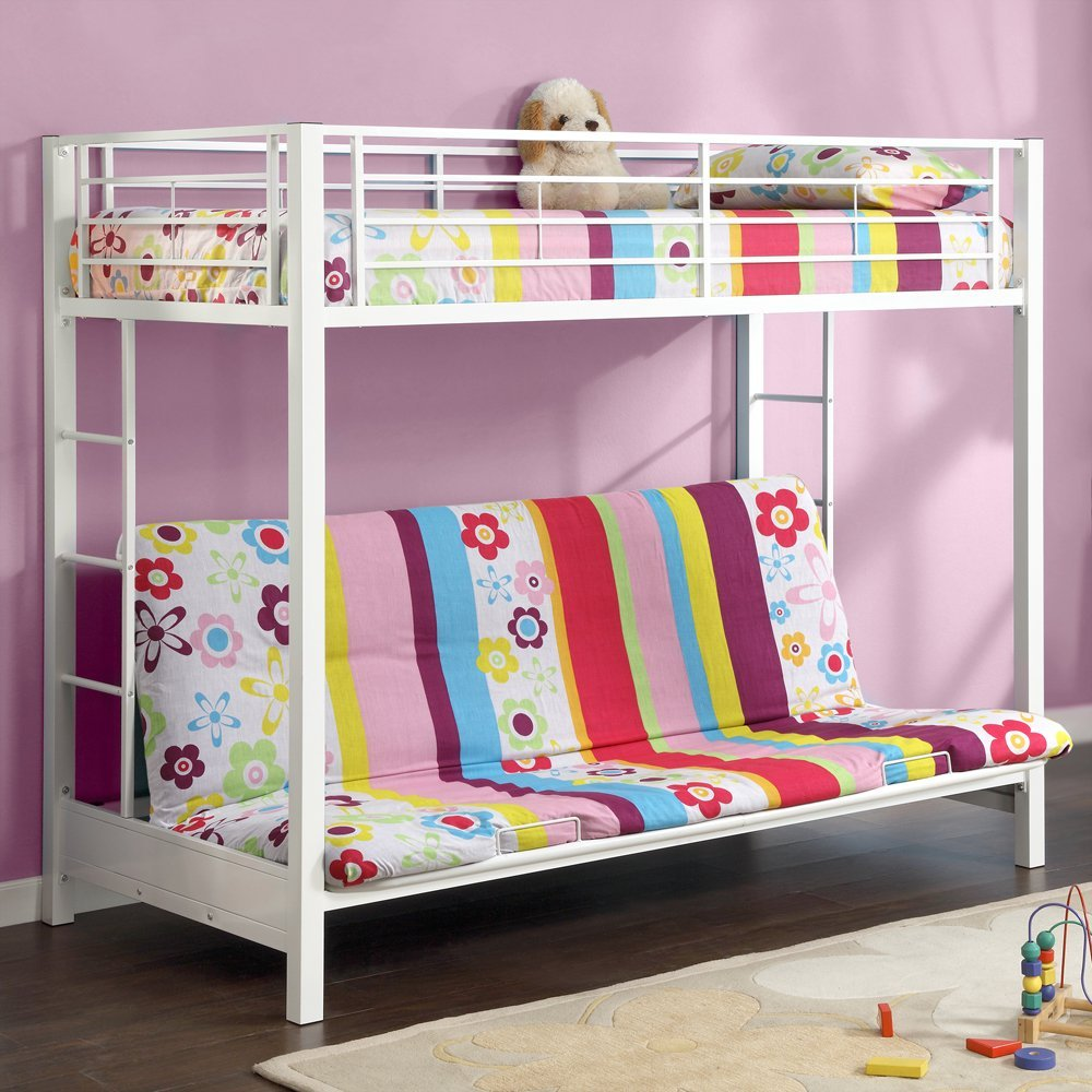 cheerful girl bunk beds