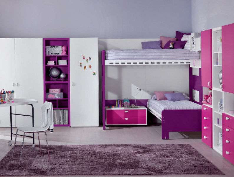 Image of: corner bunk beds for girls